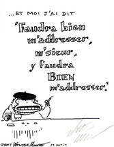 Improper French Ape: Faudra Bien... Original Signed Cartoon by Walter Moore - $9.54