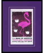 1960 Florida / Bank of America Framed 11x14 ORIGINAL Vintage Advertisement - $46.39