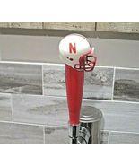 NCAA Nebraska Cornhuskers Tap Handle NCAA Football Beer Keg Wood Red  Bi... - $25.44