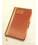 c1950s My Trip Abroad Travel Writing Journal with Pencil Partially Fille... - $49.49