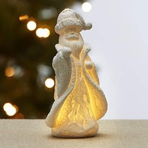 The Lakeside Collection Lighted Ceramic Santa - Decorative Holiday Home Accent