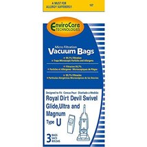 Dirt Devil Type U Vacuum Cleaner Bags for Ultra MVP, Swivel Glide and Ma... - $9.60