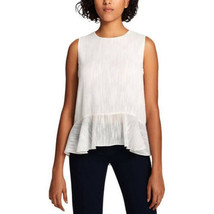 Tommy Hilfiger Top Blouse Sheer White Sz L NEW Night Out - $59.00