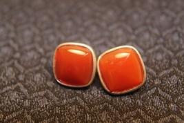 WK Whitney Kelley Sterling Silver Red Jasper Square Domed Button Earrings - $22.23