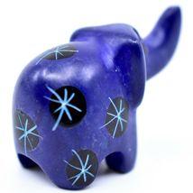 Tabaka Chigware Hand Carved Kisii Soapstone Mini Dark Blue Elephant Figurine image 3