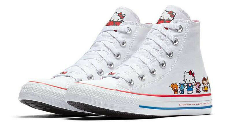 Converse X by Hello Kitty Limited Edition Sneakers Unisex Shoes Men's Women's image 3