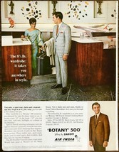 1968 Botany 500 Daroff Mens Clothing PRINT AD Takes Anywhere in Style Ai... - $11.89