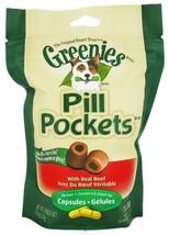 Greenies Pill Pockets Soft Dog Treats, Beef, Capsule, 7.9 Oz. - $51.16 CAD