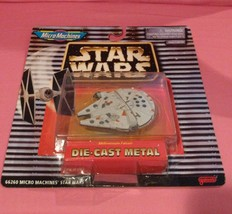 Star Wars Millennium Falcon Micromachines Galoob Collectible Star Fighter Mosc - $14.50