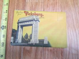 Greetings from Vicksburg Mississippi MS Souvenir Folder Postcard - $5.99