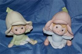 Homco Set of 2 Pixies Figurines 5215 Home Interiors - $7.99
