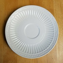 Mikasa Italian Countryside Saucer ONLY White Ribbed Scrolls on Edge DD900 - $2.72