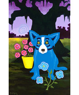 George Rodriguez Art oil painting printed on canvas home decor Blue Dog - $14.99