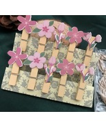 flower clothespin,photo wooden clips,picture pegs,wedding party favor de... - $3.20+
