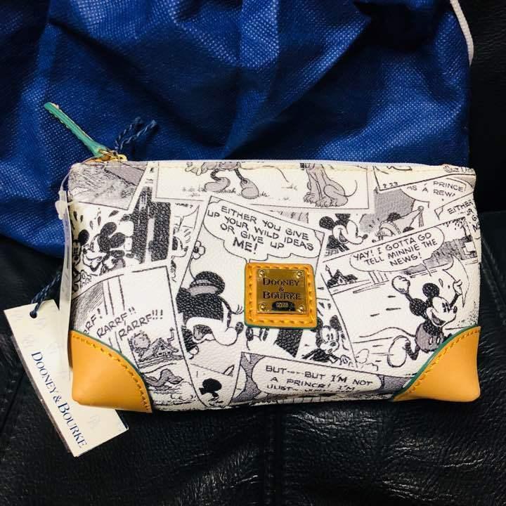 Dooney & Bourke Disney Mickey Mouse Comic Pattern Cosmetic Pouch Multi Pouch Cas - $163.35