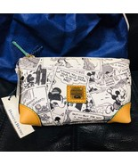 Dooney & Bourke Disney Mickey Mouse Comic Pattern Cosmetic Pouch Multi P... - $163.35