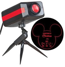 DISNEY MICKEY COUNTDOWN TO CHRISTMAS RED LED OUTDOOR STAKE LIGHT PROJECTOR  - €34,86 EUR
