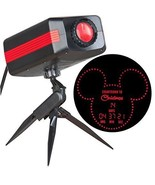DISNEY MICKEY COUNTDOWN TO CHRISTMAS RED LED OUTDOOR STAKE LIGHT PROJECTOR  - $39.59