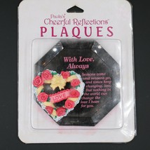 Paula's Cheerful Reflections With Love Always Mirror Floral Resin Heart ... - $16.82