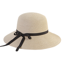Women Travel Floppy Sun Hat Bowknot Design Summer Foldable Beach Ladies Straw Ad image 4