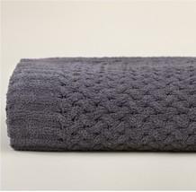 Kashwere Basket Weave Slate Grey Throw Blanket - $165.00