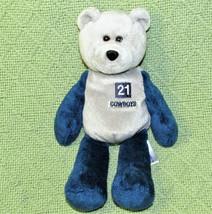 Vintage 1999 Dallas Cowboys Sanders Teddy Bear B EAN Bag #21 Stuffed Animal Nfl - $12.38