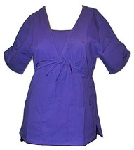 Los Angeles Rose Scrub Top w Bodice Tie Front - Purple, Hot Pink, Light ... - $24.99
