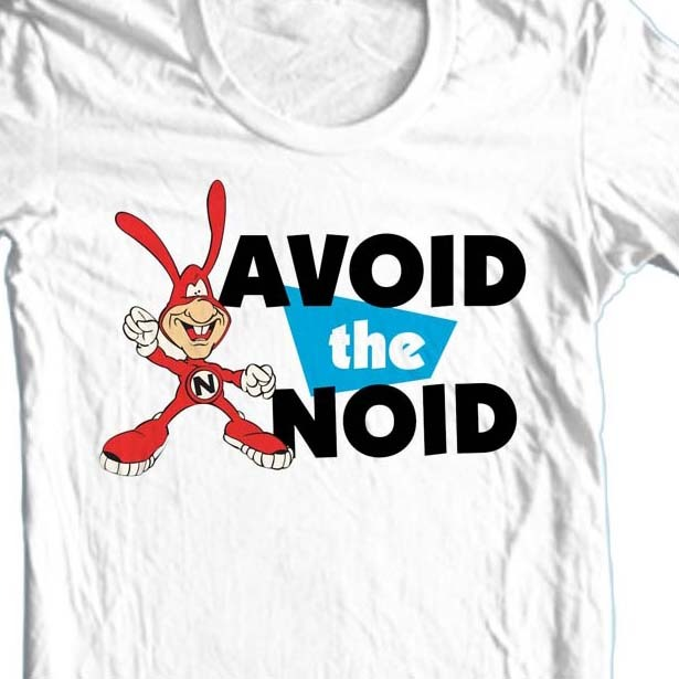 Avoid the noid dominos 80 s retro pizza online t shirt store for sale