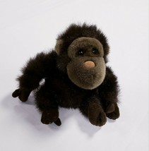 "Vintage 1996 Plush Land Small Stuffed Beanbag Plush Brown Monkey 9"" - $14.92"