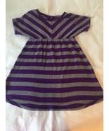 Girls Size Large Epic Threads Purple Gray Striped Tunic Dress Slight Hi ... - $16.00