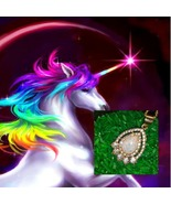 Female Rainbow Unicorn M 8,760 Yrs 18K Gold Plated triplet opal necklace... - $49.00