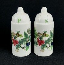 Portmeirion England Holly & Ivy Christmas China Salt & Pepper Shakers Ho... - $27.89