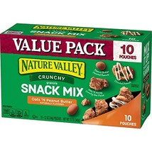 Nature Valley Crunchy Granola Snack Mix Oats 'N Peanut Butter, 6 oz, 10 Count