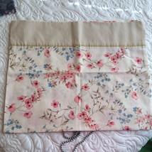 Pink Blue Floral pillowcase by WestPoint Stevens Standard/Queen One - $4.95