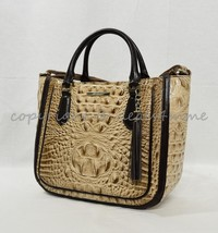 NWT Brahmin Small Lena Leather Satchel/Shoulder Bag in Travertine Vermeer - $259.00
