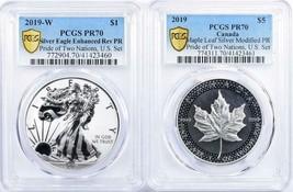 2019-W, O  Pride of 2 Nations Set -PCGS REV PR-70, Modified PR-70 - Two Coins - $424.71