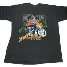 Vintage 90s Daytona Bike Week 1997 Double Sided Single Stitch T Shirt Bl... - $44.48