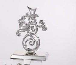 """Kurt S. Adler 8"""" Silver Metal Snowman Christmas Stocking Holder Hanger - $28.88"""