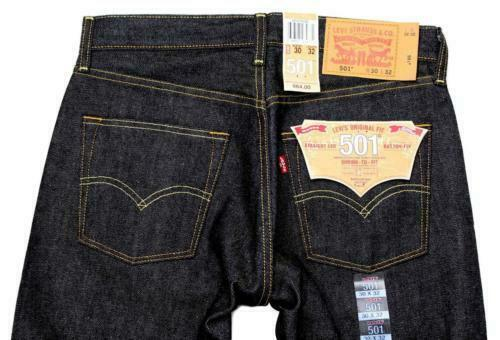 NEW LEVI'S 501 MEN'S ORIGINAL STRAIGHT LEG JEANS BUTTON FLY BLACK 501-0226