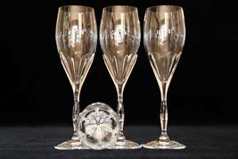 Noritake Masters Crystal Glass Set, Noritake Masters Crystal Champagne G... - $88.00