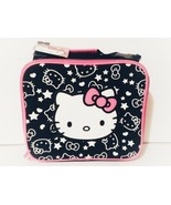Hello Kitty Lunch Box Bag, Black/Pink, New with tag - $8.88