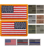US Flag Tactical Patch American USA Hook & Loop Army Military Uniform Pa... - $6.49+