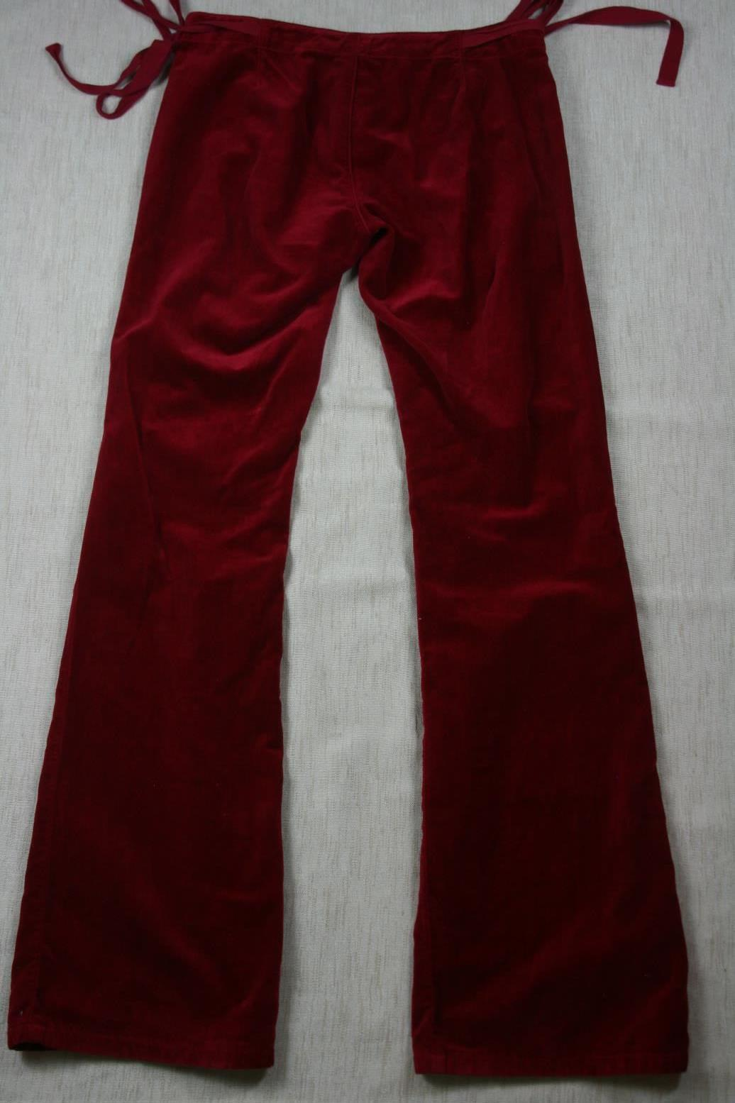 Juicy Couture Womens Velvet Velour  Pants Sz 29 X 34 image 4