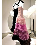 BCBG Max Azria ATELIER Dress maxi Long Floral Clouds GOWN Pink Tulle   - $924.84