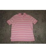 Polo Ralph Lauren, Men's Short Sleeve Polo Shirt, Pink & White Striped, ... - $14.95