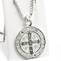 Venetian Chain 50 CM, MEDAL ST. BENEDICT, CROSS, SILVER 925 necklace image 3