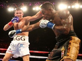 Willie Monroe Jr Vs Gennady Golovkin 8X10 Photo Boxing Picture Ring Action - $3.95