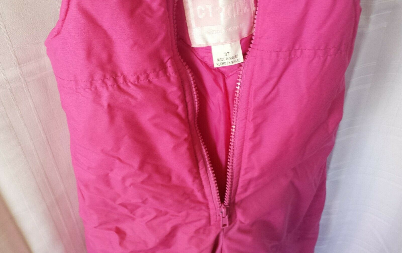 Toddler & Little Girls Pink Water & Wind Resistant Snow Bib Overalls Ski Pants 3