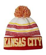 Kansas City Men's Blended Stripe Winter Knit Pom Beanie Hat (Red/Gold) - $13.89
