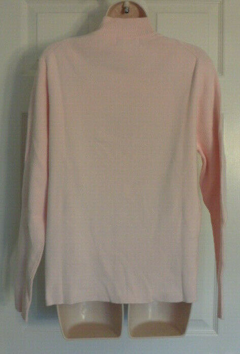 New IL Migliore 1/4 Zip Neck Pink Sweater Size Large STYLE # 71001